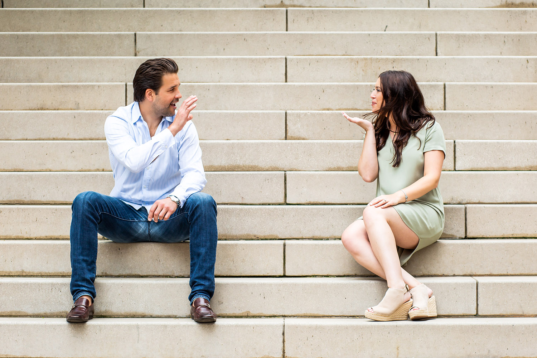 Raquel & Nick's Chicago Riverwalk Engagement Session