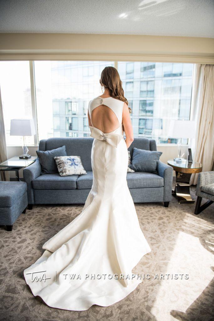 detail shot of back of bride's dress