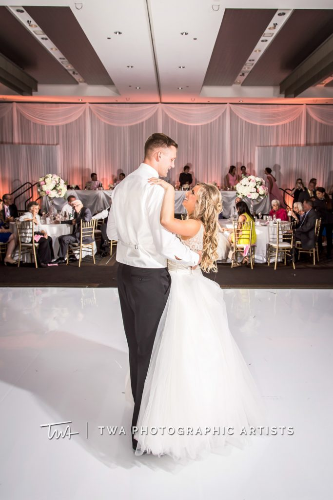 couple sharing first dance
