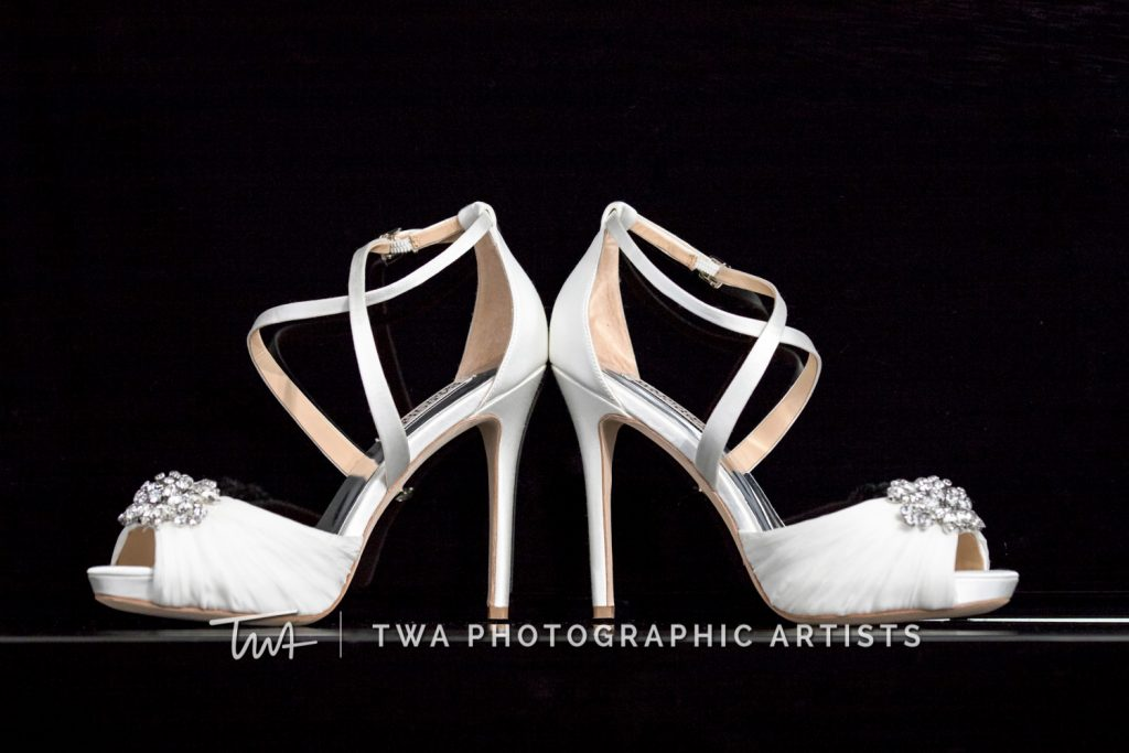 detail photo of bride's shoes