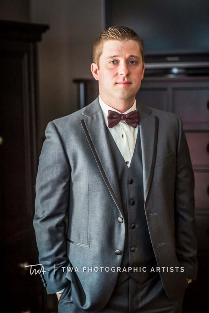 Solo portrait of groom
