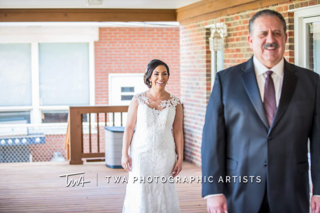 Bride and dad first look