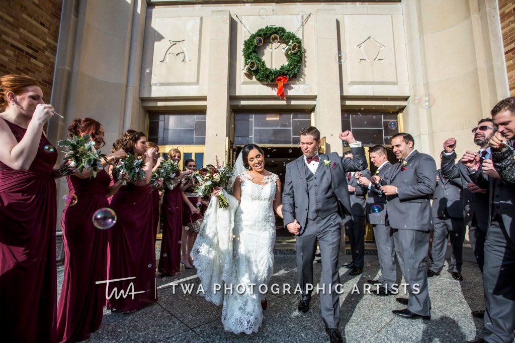 Couple exiting church