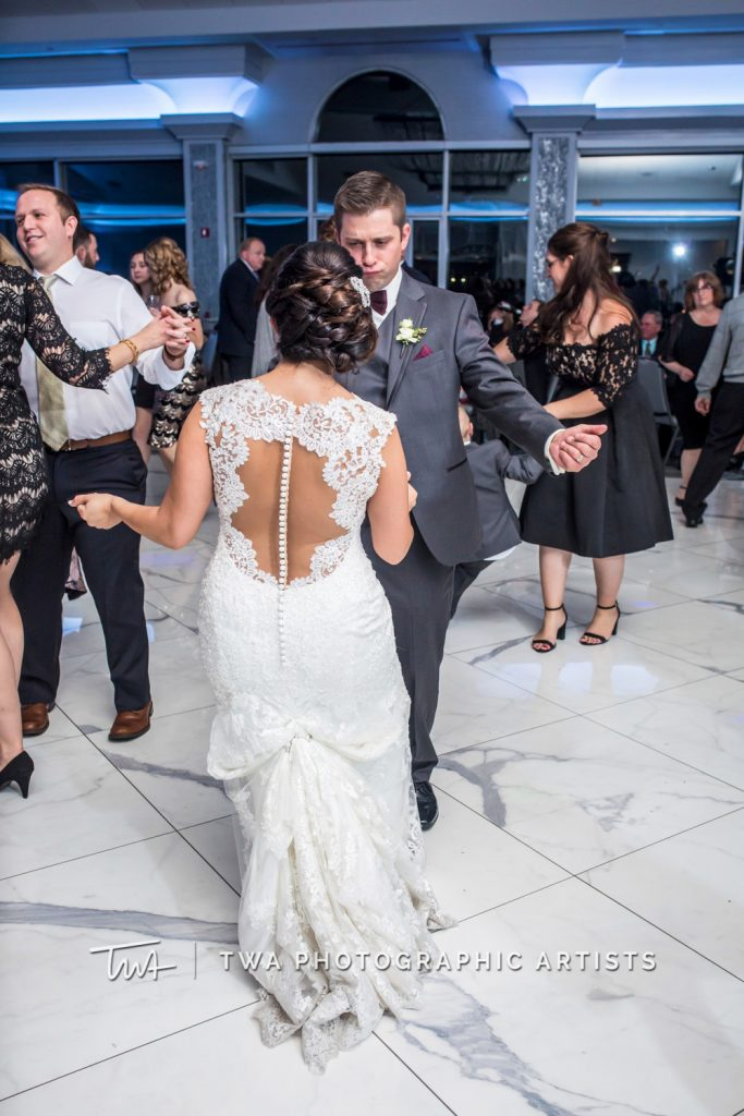 Couple dancing during reception