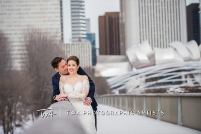Couple portrait in Millennium Park