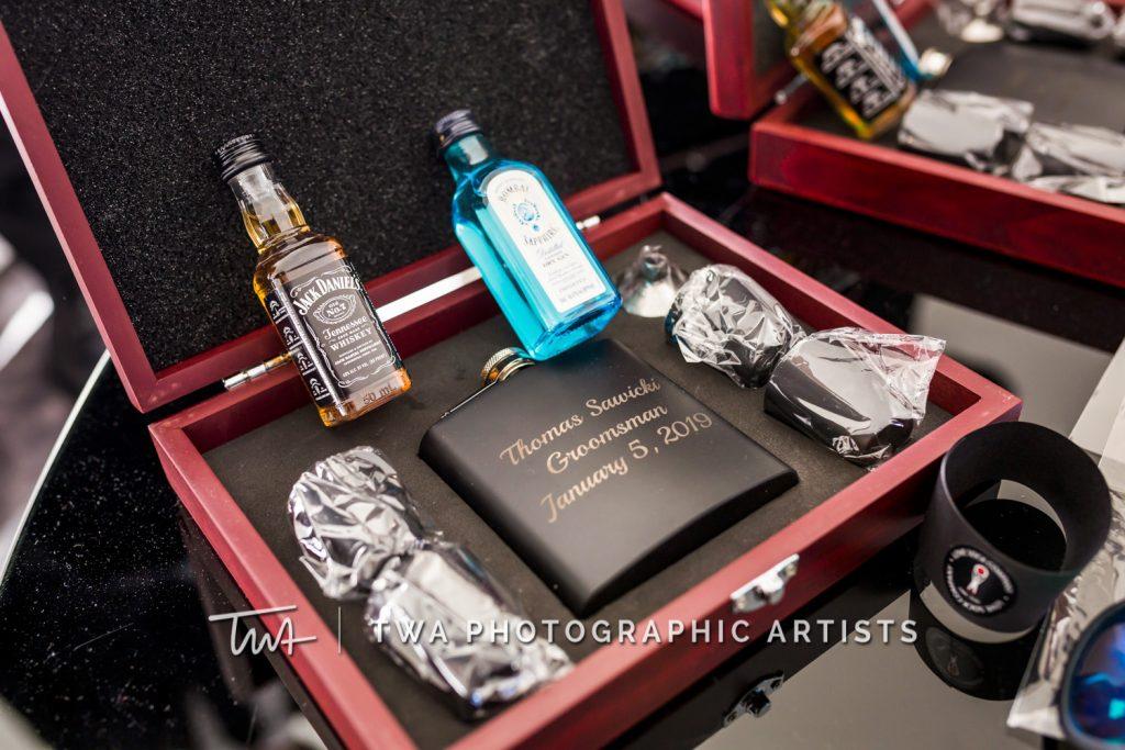 Detail photo of groomsmen gift