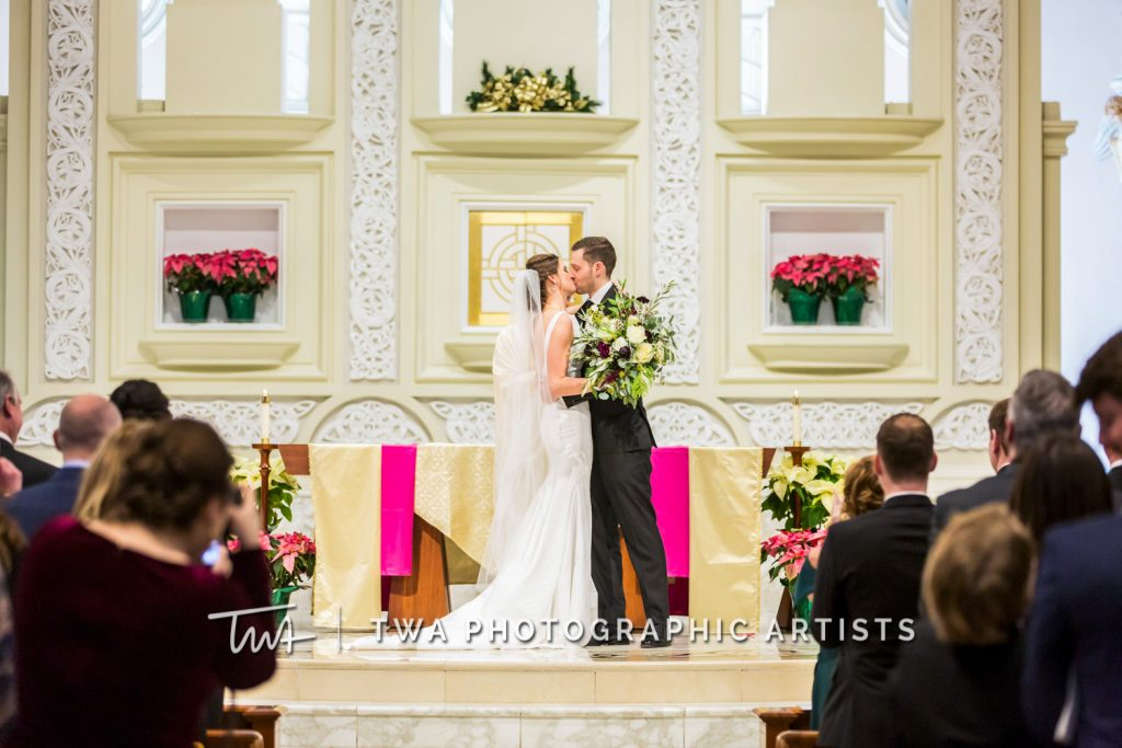Couple sharing first kiss