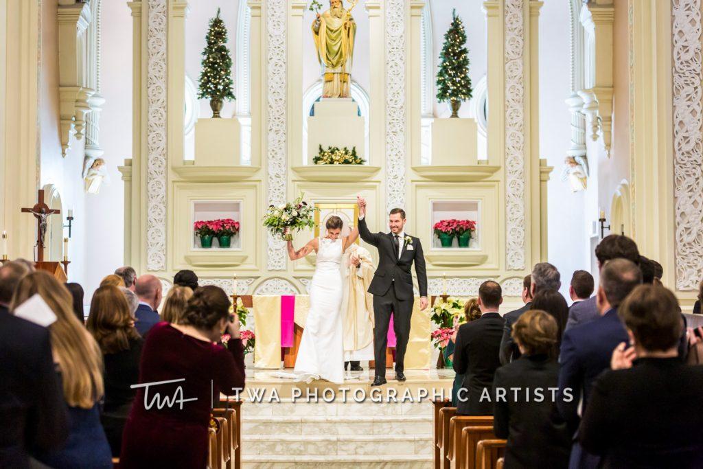 Couple exiting ceremony