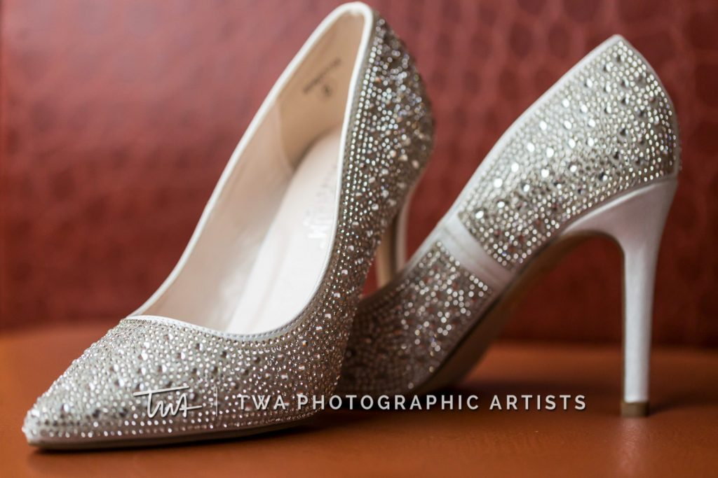 Detail photo of bridal shoes