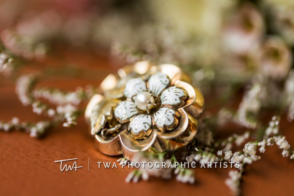 Detail photo of bridal hair accessory