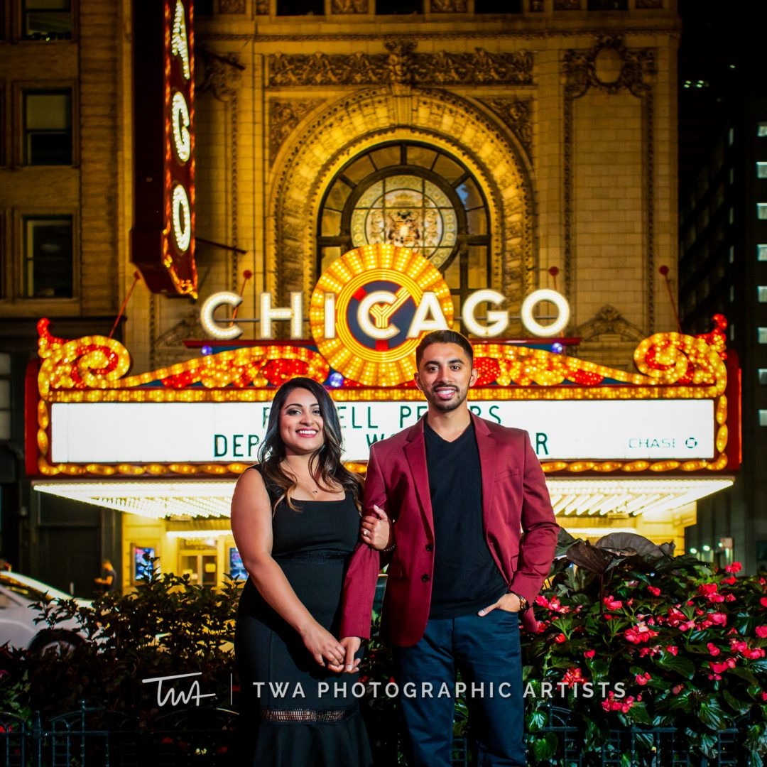 Jill and Kevin's Nighttime Chicago Session