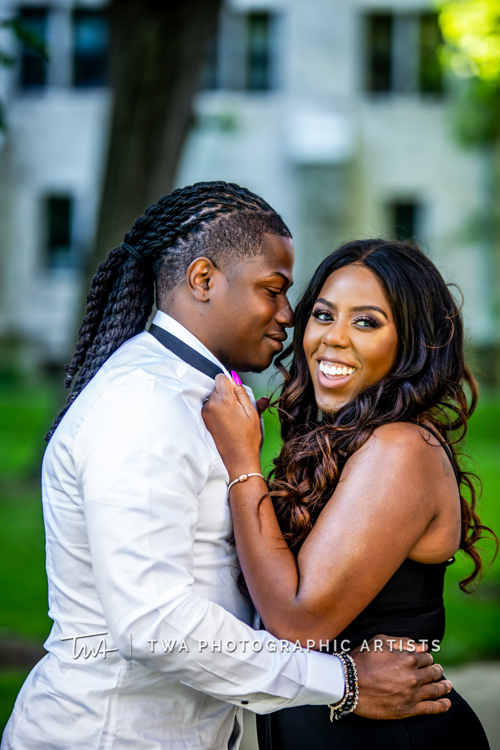 Chicago Wedding Photographers | Rodnesha & Dakota's Dominican University Chicago Engagement Session | TWA Photographic Artists