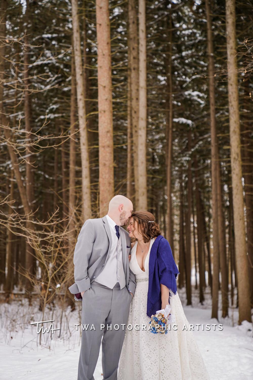 Liz & Andy's Winter Morton Arboretum Wedding | TWA Photographic Artists | Chicago Wedding Photographers