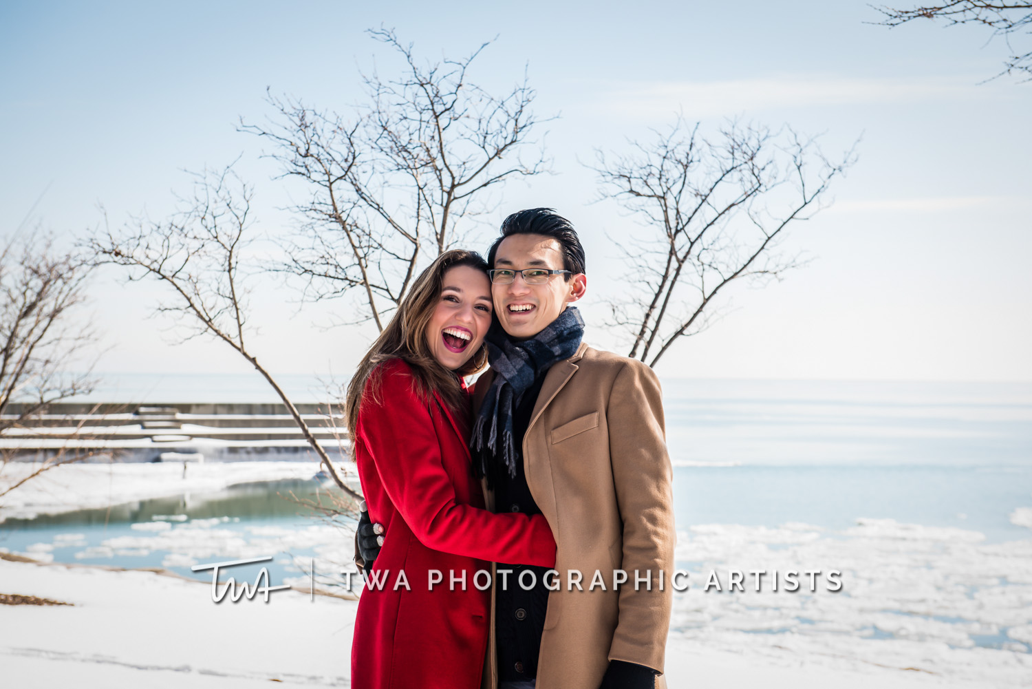 Elena & Zheng's Museum Campus Engagement Session | TWA Photographic Artists | Chicago Wedding Photographers
