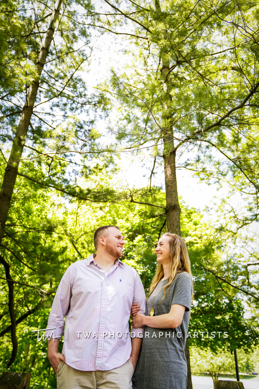 Chicago Wedding Photographers | Kate & Tucker's Naperville Riverwalk Engagement Photo Session | TWA Photographic Artists