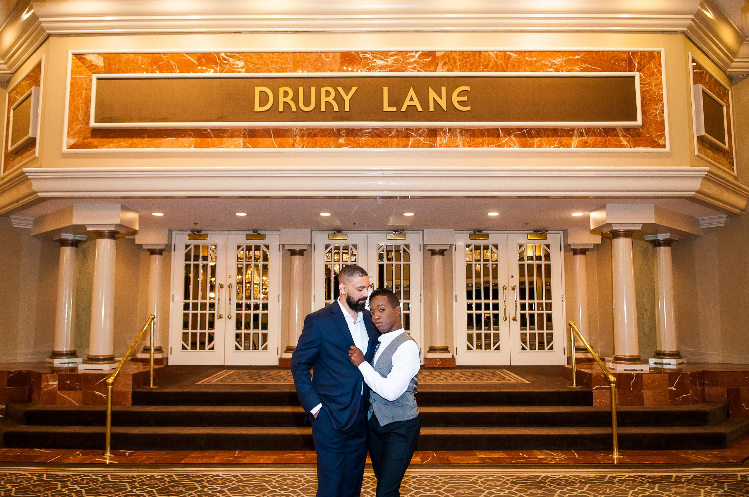 Drury Lane Engagement Photo Sessions | TWA Photographic Artists | Chicago Wedding Photographers