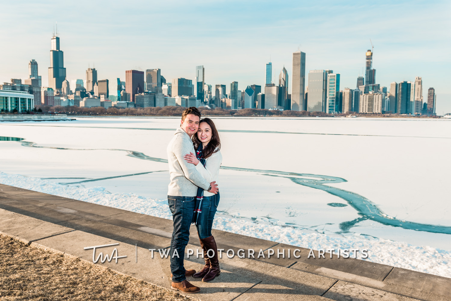Alissa & Tyler's Chicago Winter Engagement Session