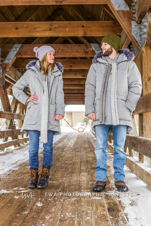 Ally & Kurt's Naperville Riverwalk Engagement Session
